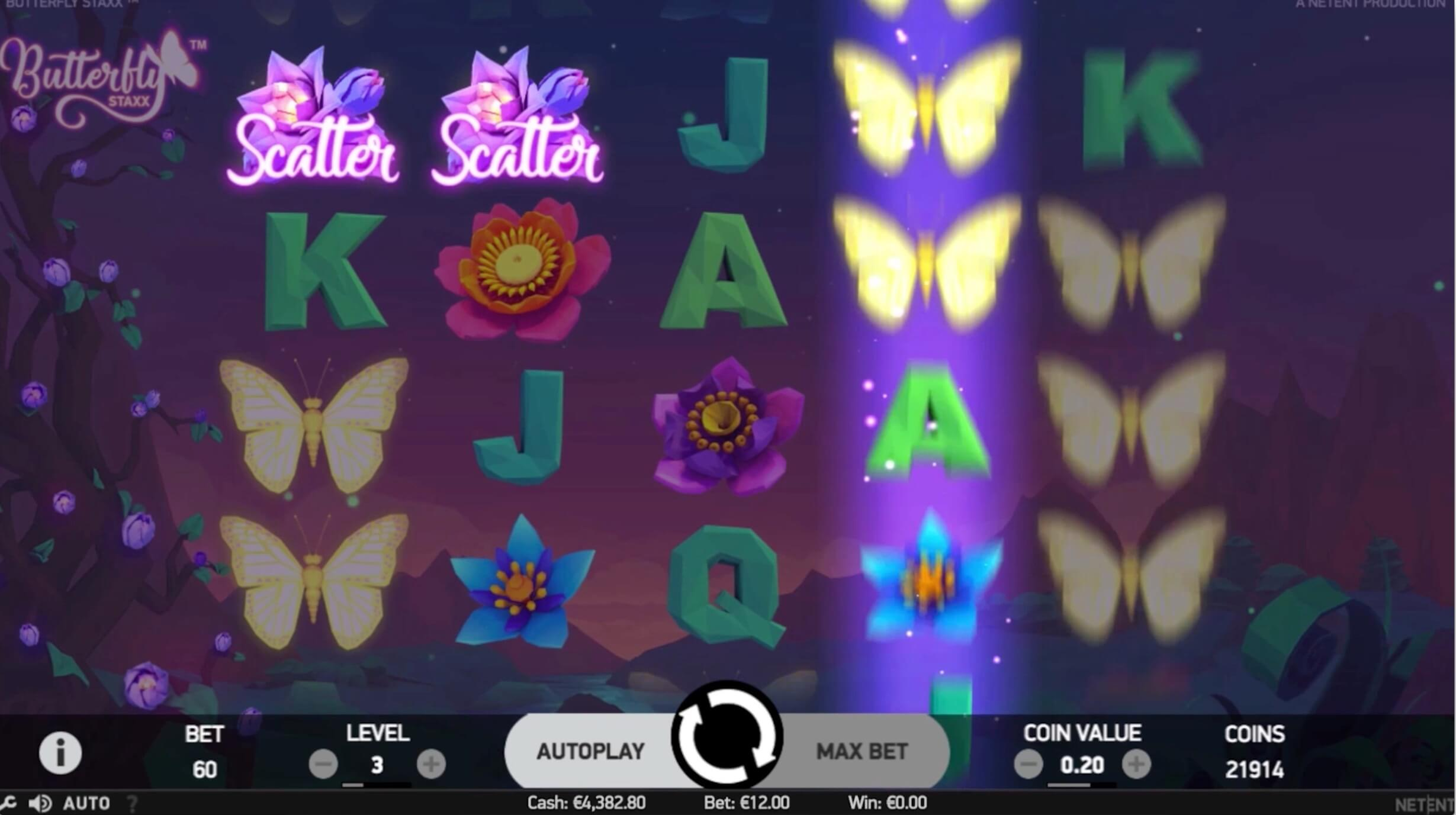 butterlfy staxx slot screenshot in action